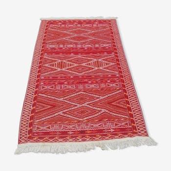 Tapis berbère fait à la main en pure laine 90x180cm