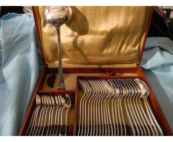 Ménagère 37 pièces en métal argenté Dixi