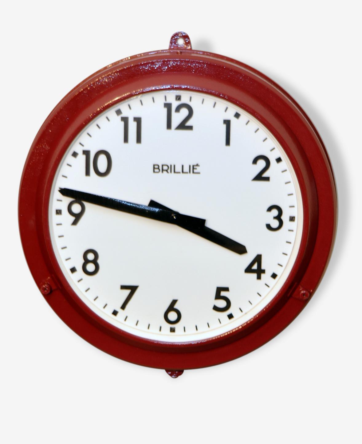 Horloge industrielle Brillié – French Industrial clock