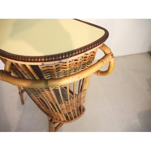 Rattan bar dating back fifty years