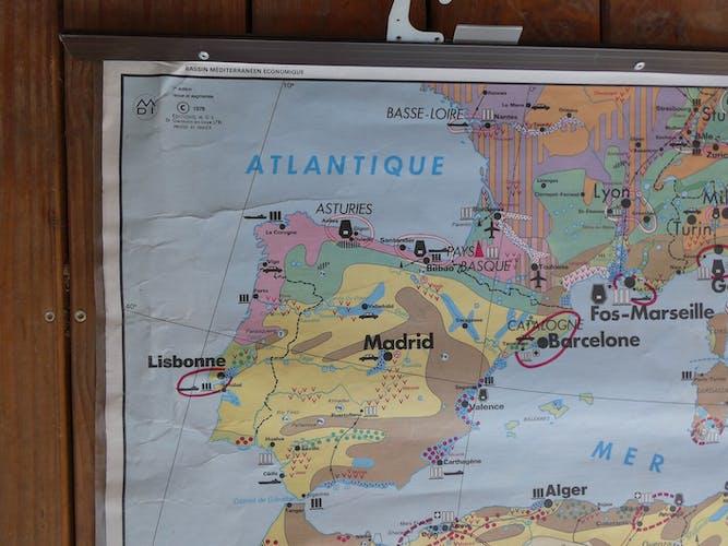 "School map ""Mediterranean Basin"""