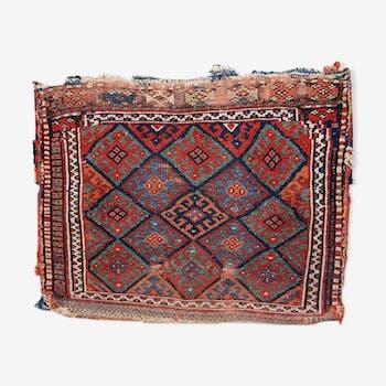 Tapis ancien Persan Kurdish fait main 56x73cm 1880