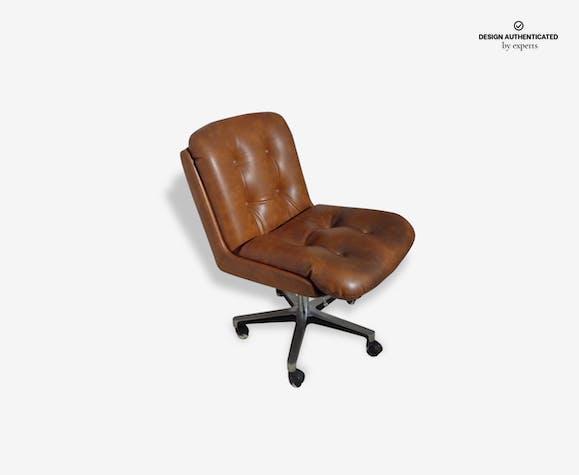 Vintage Design Fauteuil.Fauteuil Bureau Vintage Design Pollock Des Annees 70 Leatherette