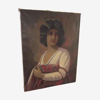 Portrait oil on canvas