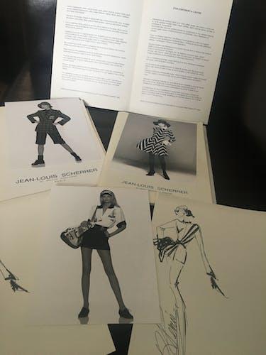 Jean-Louis Scherrer: illustration de mode & photographie de presse vintage . 1991