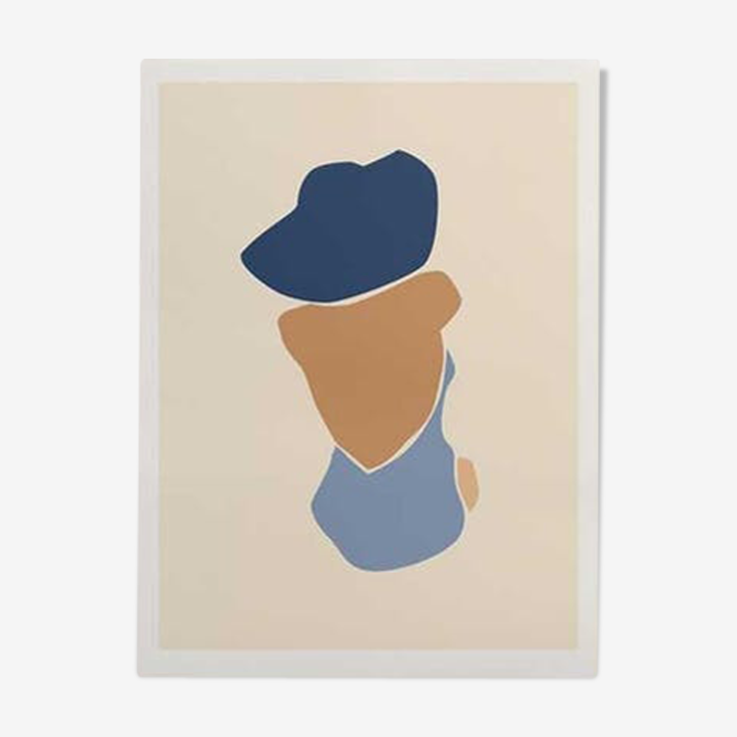 Illustration - baigneuse bleue A3