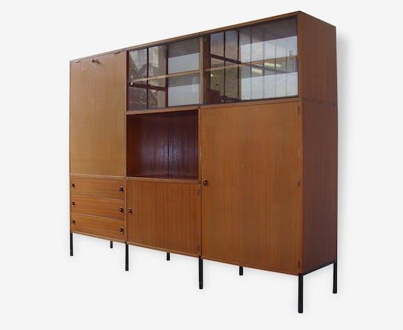 Meuble Bibliotheque Secretaire Arp Par Minvielle De 1955 Bois