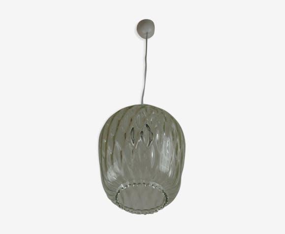 Suspension de Venini verre texturé vintage