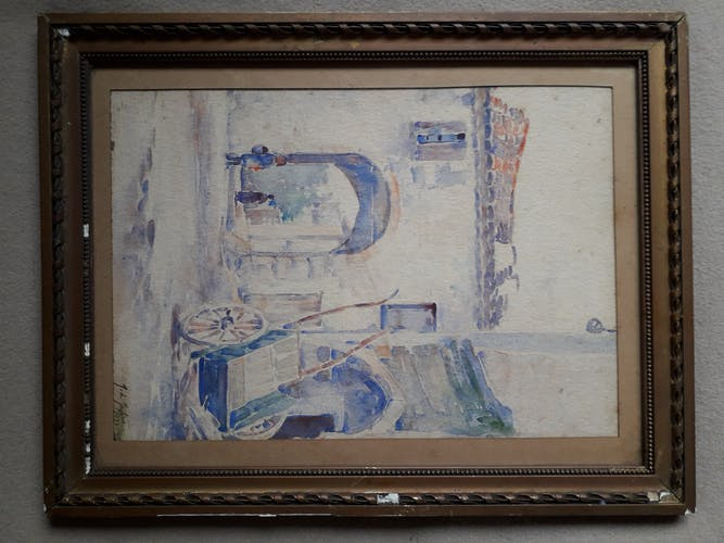 Aquarelle de Jean de Joybert datée de 1922