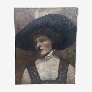 Elégante au chapeau