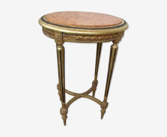 Golden oval console, Louis XVI style