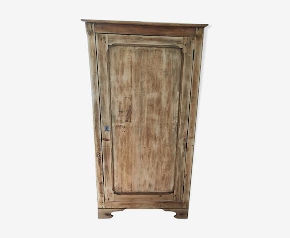 Armoire une porte bois blanc