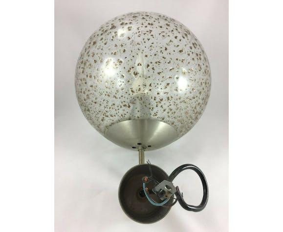 Glass ball hanging lamp 1970