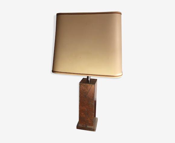Lamp motif leaves encrusted on copper 1970