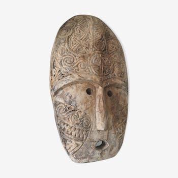 Timor Indonesia wooden mask