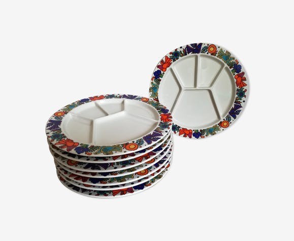 8 plates to Acapulco from Villeroy and Boch 1960 compartments