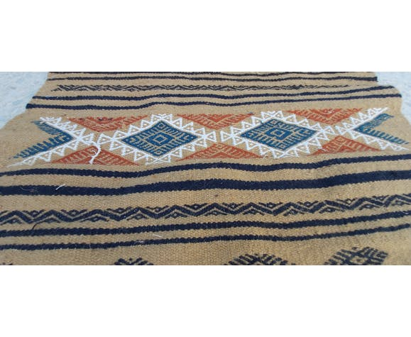 Handmade multi-coloured kilim rug in 100-65cm wool