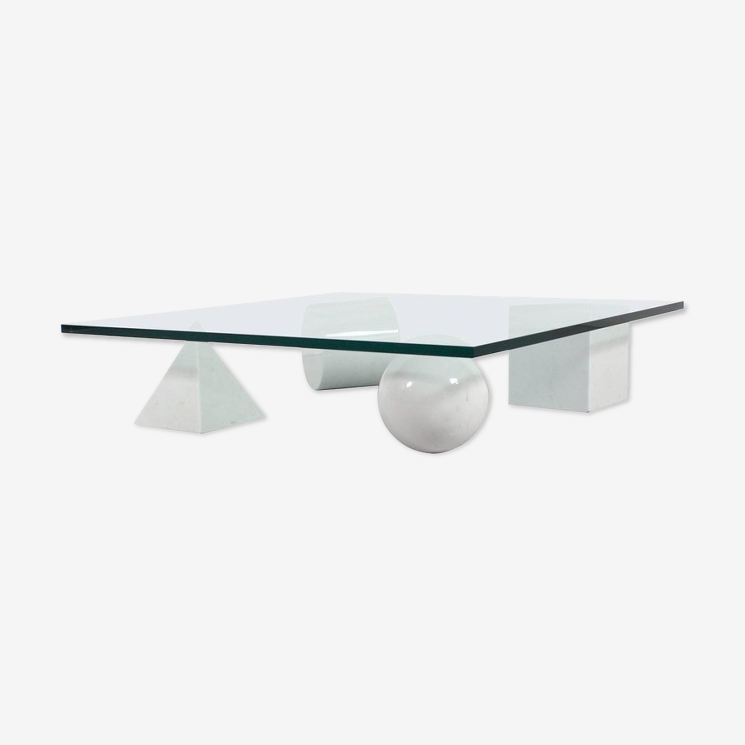 "Table basse ""Metaphora"" Massimo & Lella Vignelli 1979"