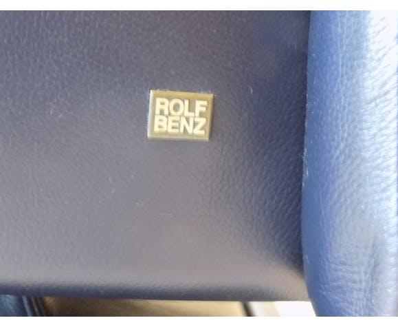 Fauteuil en cuir bleu marine 6500 par Rolf Benz 80