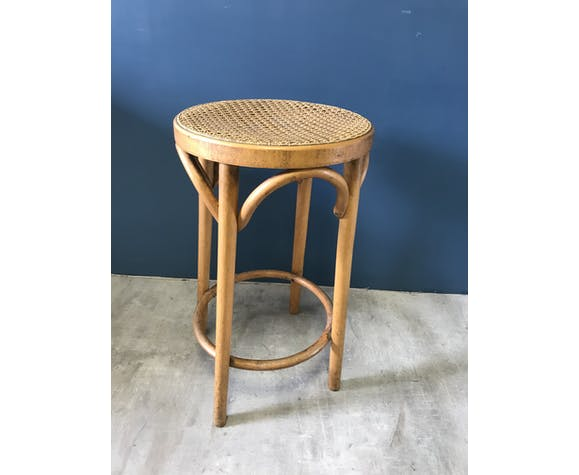 Stool with caning