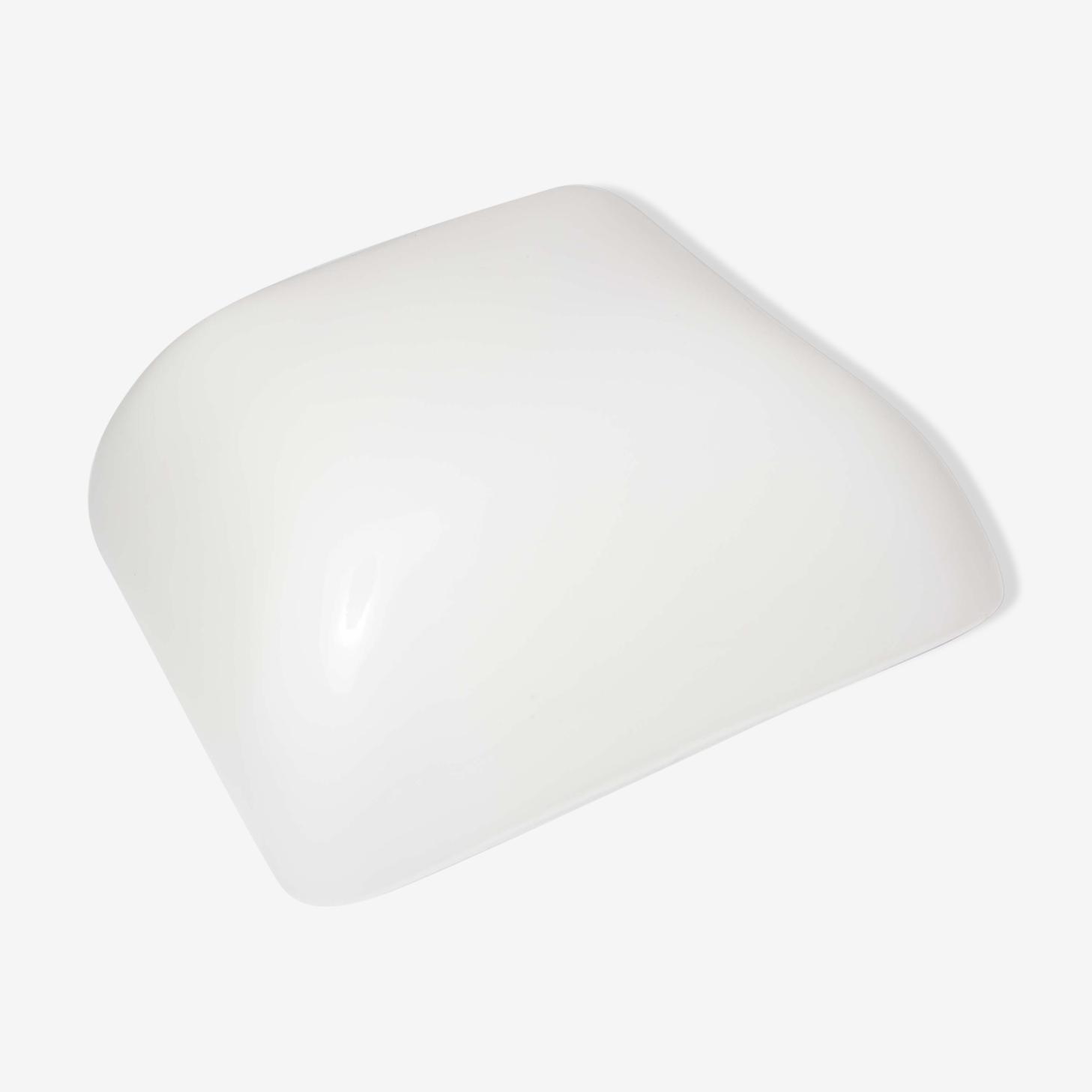 White opaline ceiling light, 60s