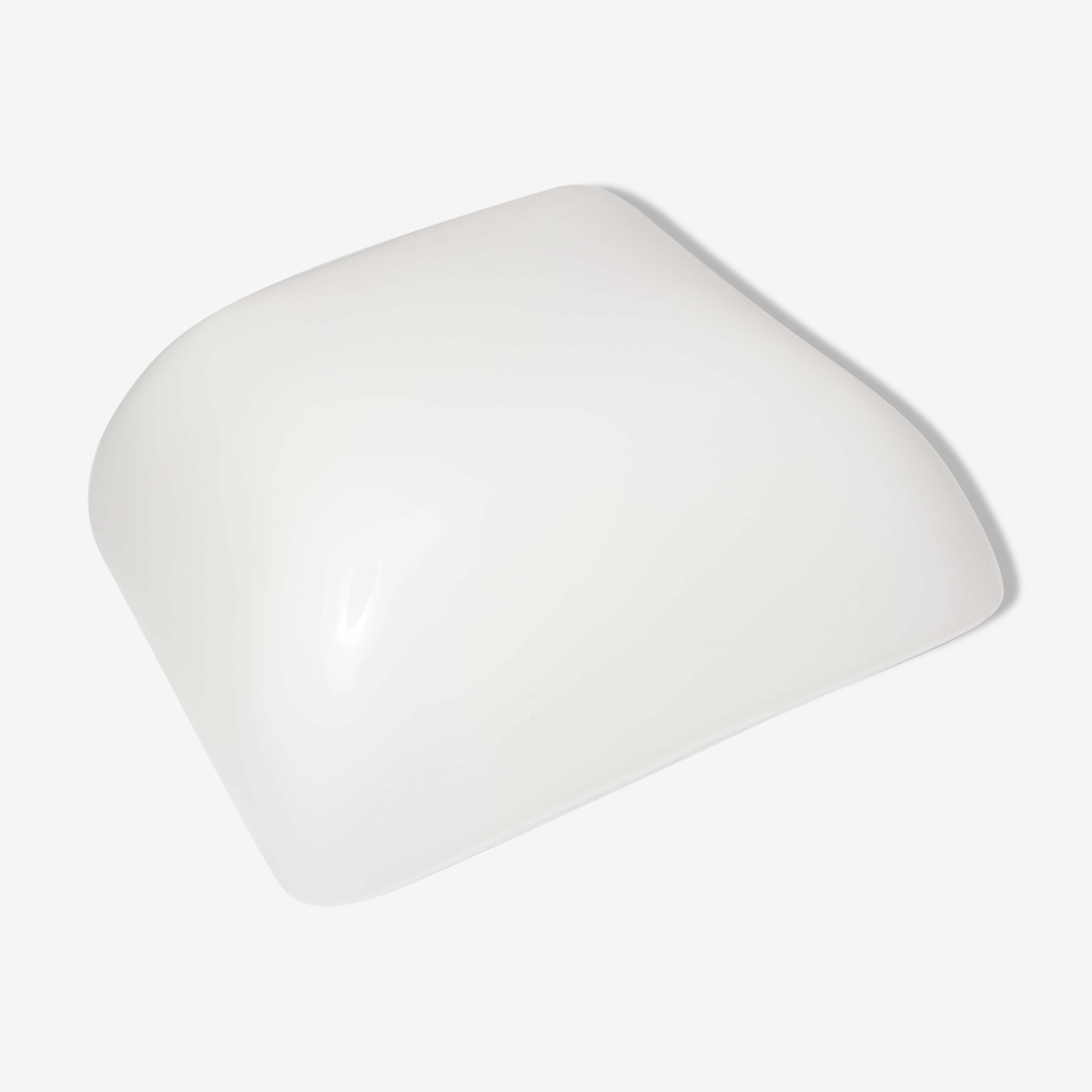 Plafonnier opaline blanche, 60s