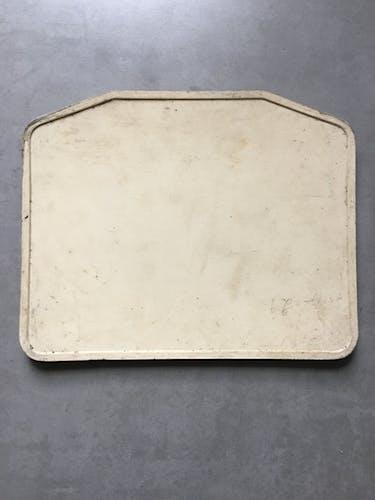 Old bus line plate n° 76