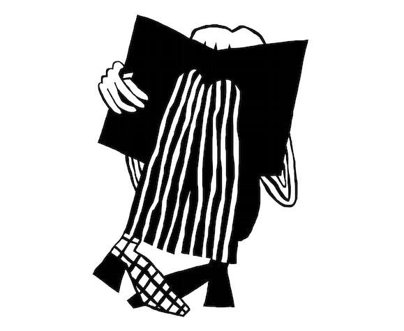 Sérigraphie La Lectrice