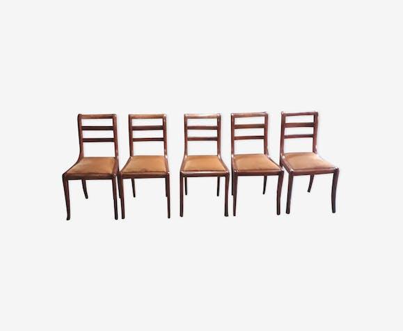 Série de 5 chaises à galette