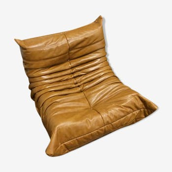 """Togo"" Chair leather by Michel Ducaroy for Ligne Roset"
