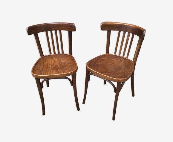 2 chaises bistrot vintage