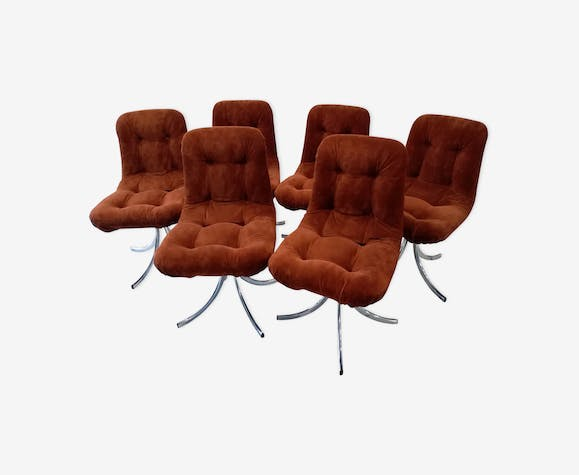 Set of 6 chairs and table vintage 1970