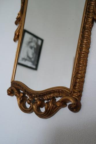 Miroir baroque doré vintage