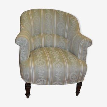 fauteuil crapaud ancien vert tissu vert classique fptcped. Black Bedroom Furniture Sets. Home Design Ideas