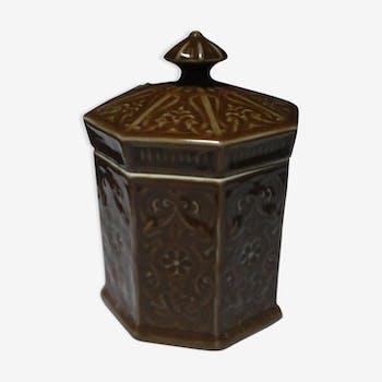 flacon bocal pot vintage d 39 occasion. Black Bedroom Furniture Sets. Home Design Ideas