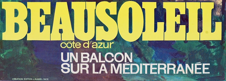 Poster, Beau soleil Côte d'Azur