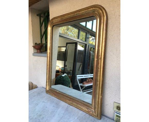 Miroir Louis Philippe doré à l'or fin - 100x82cm