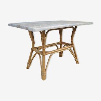 1970 vintage rattan table