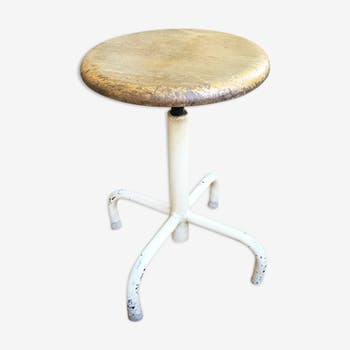 Industrial stool wood and metal