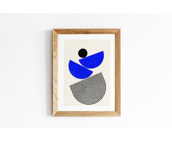 Nomade blue 2, impression d'art