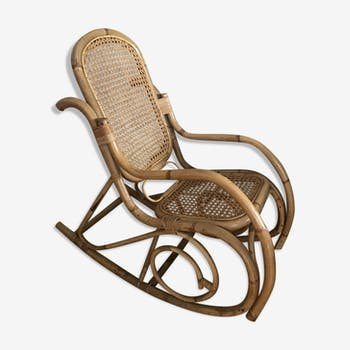 Rocking chair rocker rattan and vintage caning