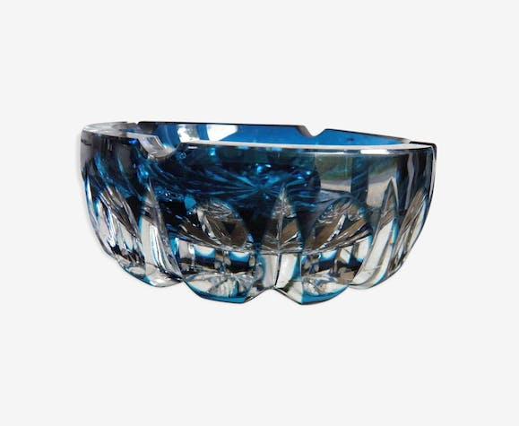 saint louis ancien cendrier en cristal taill modele ambassadeur verre et cristal bleu. Black Bedroom Furniture Sets. Home Design Ideas