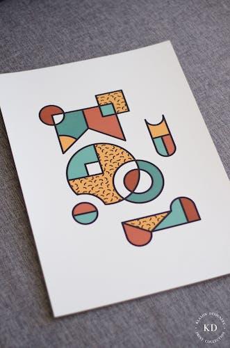 Affiche Abstract Geometry A3 - #006 - Série numérotée