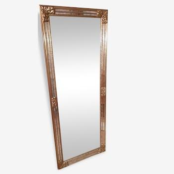 Miroir de style baroque en pl tre peint en dor pierre for Grand miroir original