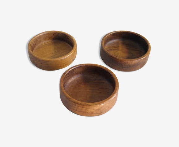 Lot of 3 cups  in teak