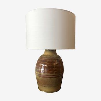 Lampe vintage en céramique émaillée