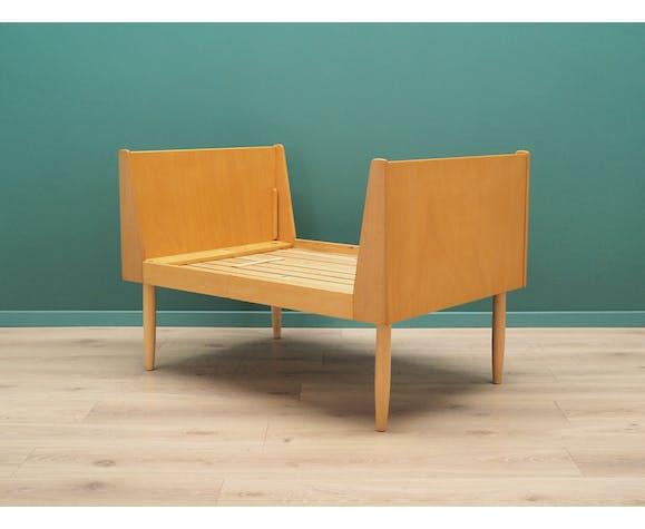 Cadre de lit en frêne, design danois, années 60