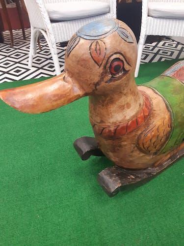 Cheval à bascule bois canard