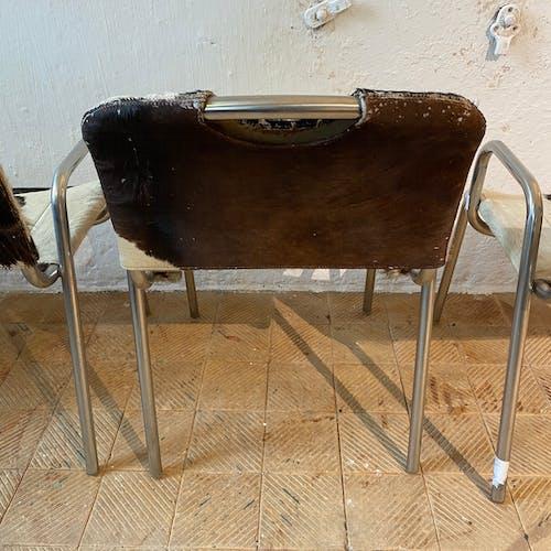 """Table """"poker"""" de Joe Colombo & chaises de Achille Castiglioni & Marcello Minale, production Zanotta"""