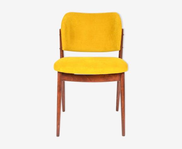 chaise jaune annes 60 - Chaise Jaune Scandinave